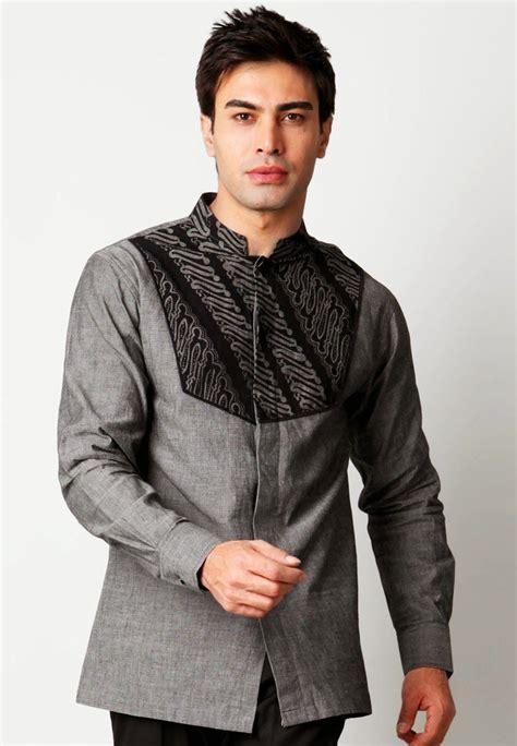contoh model baju muslim pria modis lengan panjang baju