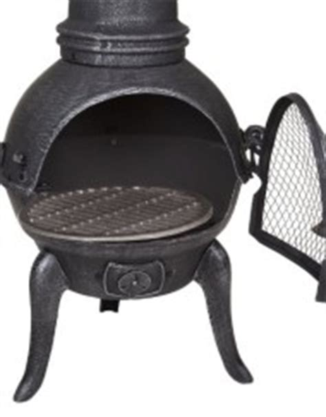Cast Iron Chiminea Cover Garden Patio Outdoor St Lucia Cast Iron Chiminea With