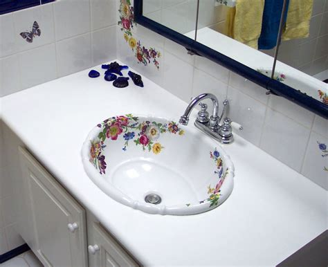 hand painted bathroom sinks scented garden hand painted sink bathroom traditional
