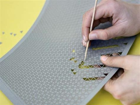 pattern paper lshade perforated lshades let people create custom patterns