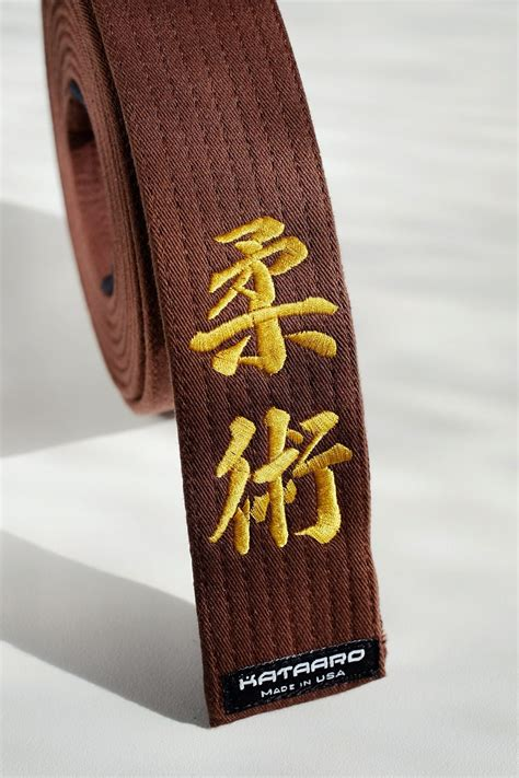 Blackbelt Kuro Obi 01 White embroidered rank belt martial arts embroidery