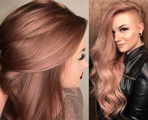 hair color of 2017 hair color ideas 2017 rose golden hairstyles easy