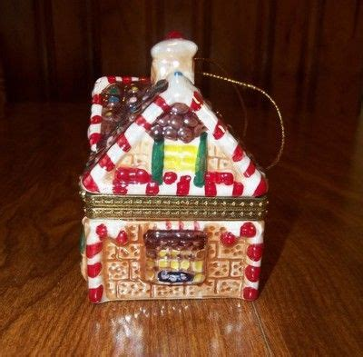 christmas house music mr christmas porcelain gingerbread house music box tree ornament