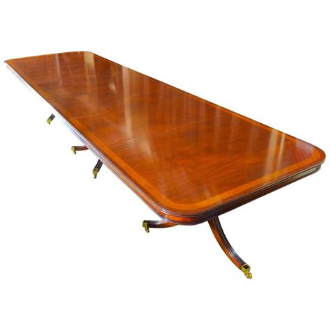 regency style dining table inlaid mahogany for sale