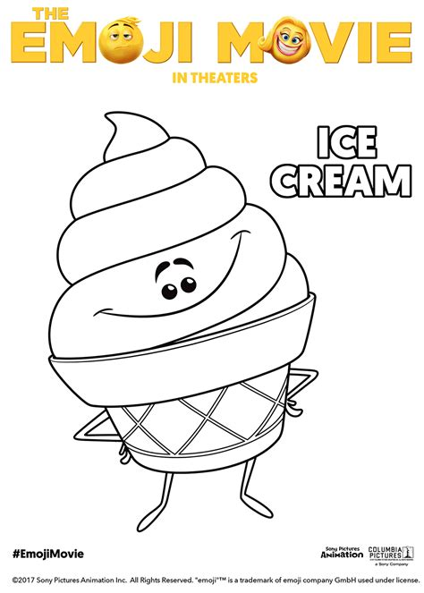 ice cream emoji movie the emoji movie ice cream coloring pages free movie
