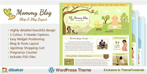 cute themes for wordpress free download 15 great baby wordpress themes the design hill