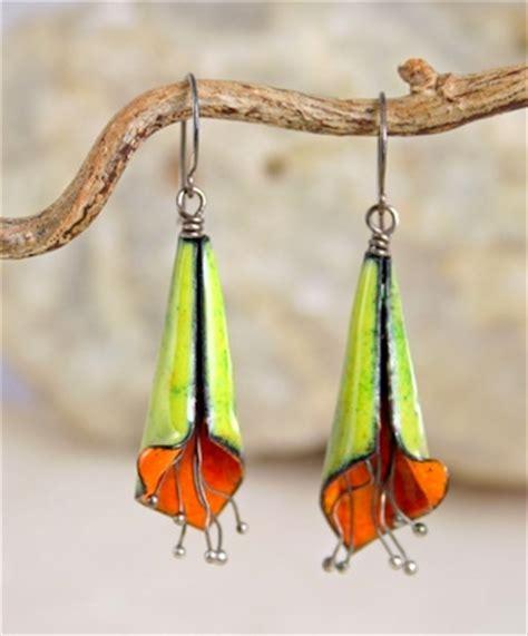 Copper Enamel Flower Earrings ? Jewelry Making Journal