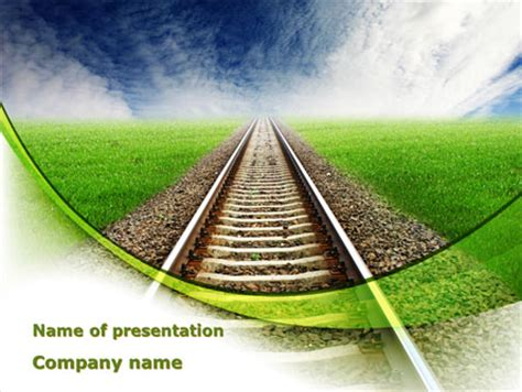 railway themes for powerpoint railway stretching into the blue distance powerpoint
