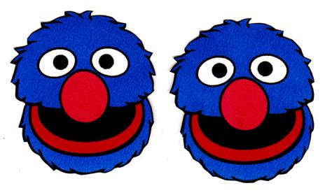 elmo face wallpaper 1 5 quot sesame street grover face set character prepasted