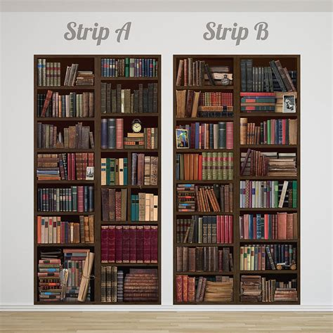 wall bookshelf bookcase self adhesive wall mural by oakdene designs