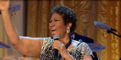 Aretha Franklin White House by Aretha Franklin Performs Quot Amazing Grace Quot In