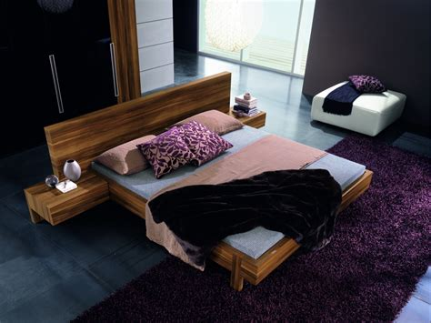 In The Bed by Marin Modern Platform Bed With Optional Leather Backrests