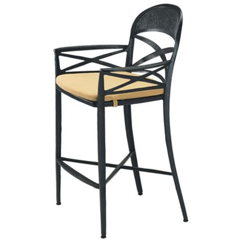 upscale bar stools antico cast aluminum outdoor bar stool by tropitone