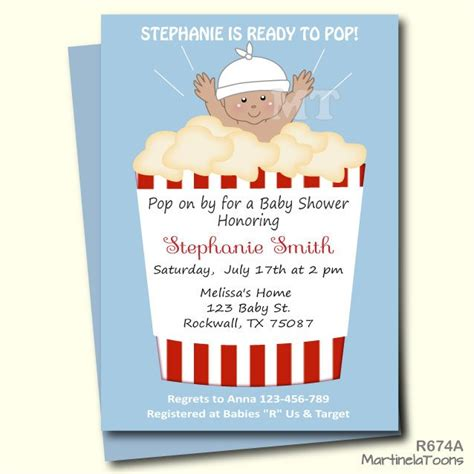 Ready To Pop Baby Shower Invitations Free by Ready To Pop Baby Shower Invitation Popcorn Babyshower