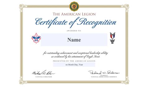 eagle scout certificate template 2017 eagle scout of the year application the