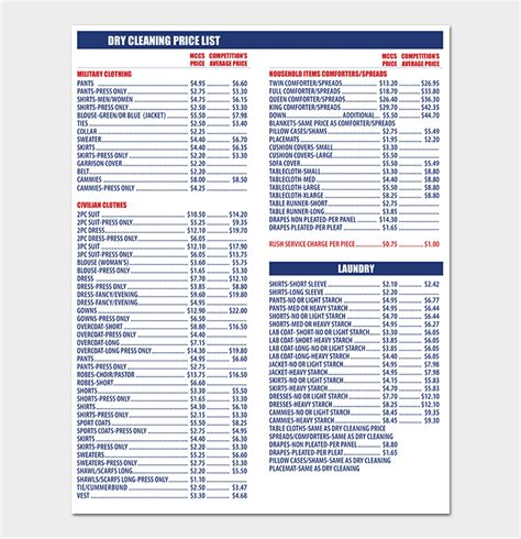 Cleaning Price List Template 12 In Word Pdf Format House Cleaning Price List Template