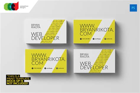 technology business card templates 15 web developer business card psd templates creative
