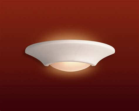 Oule Led E27 100w 2555 by Firstlight C316 Ceramic Wall Uplighter C316un