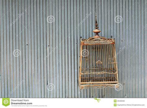 gabbia di legno gabbia di uccello di legno fotografia stock immagine