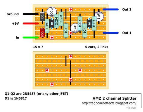 html layout splitter guitar fx layouts amz 2 channel splitter