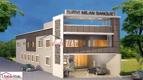 Modern Single Storey House Plans Commercial Building Elevation Front 3d View Design Ideas