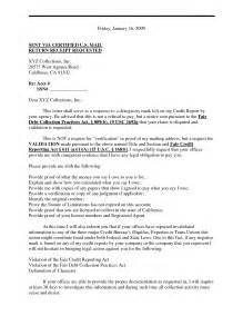 Validation Of Debt Letter Template by Debt Validation Letter Gplusnick