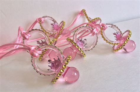 Princess Themed Baby Shower Favors by Princess Pacifiers Baby Shower Favors By Marshmallowfavors