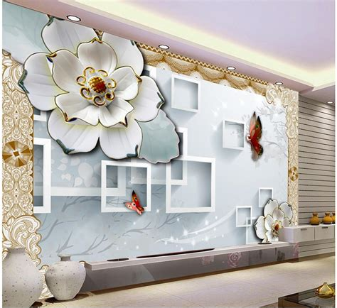 3d wallpaper for home decoration 3d block tv backdrop embossed flowers papel parede mural wallpaper home decoration 3d wallpaper