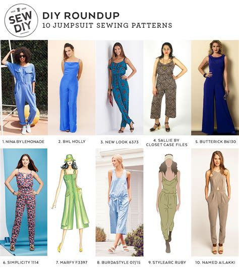 jumpsuit sewing pattern 2015 diy roundup 10 jumpsuit sewing patterns sew diy