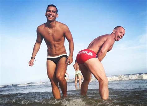 old man sagging buns watch santa speedo run deliver these sexy packages