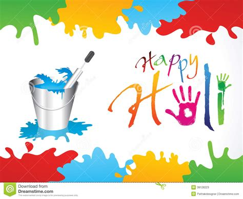 happy holi   background  hand prints cartoon vector