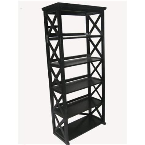 Black 5 Shelf Bookcase by Home Decorators Collection Brexley Black 5 Shelf Bookcase