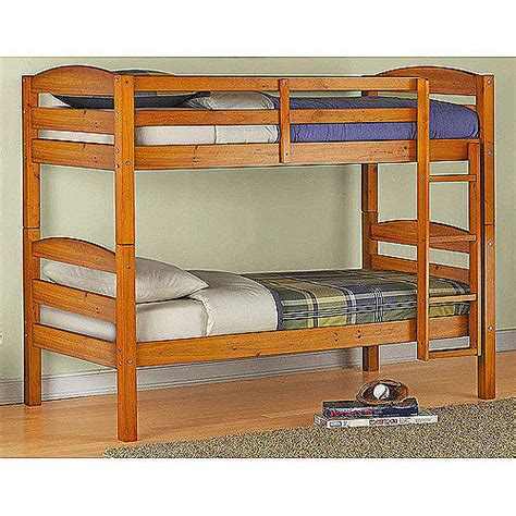 walmart wood bunk beds mainstays bunk bed walmart com