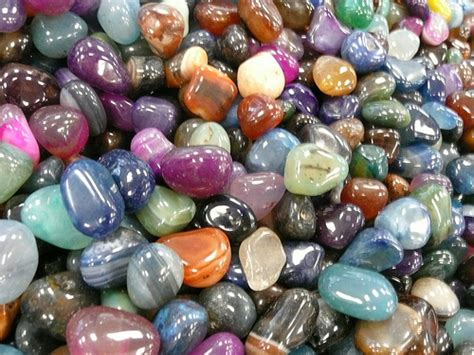 colored stones photo