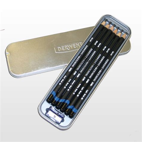 How To Use Sketching Pencils Derwent Watersoluble Sketching Pencils Tin Of 6 Ken
