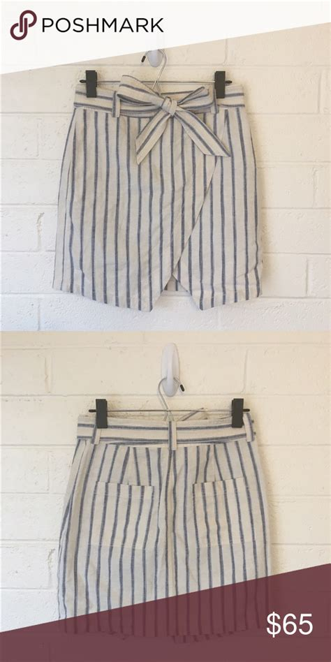 nwt madewell portside skirt  ikat stripe  adorable