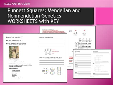 Non Mendelian Genetics Worksheet by Non Mendelian Genetics Worksheet Worksheets Releaseboard
