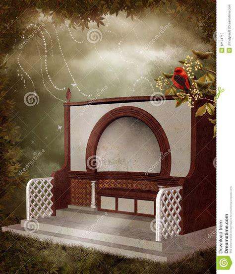 fantasy bench fantasy bench 2 stock photo image 12124710