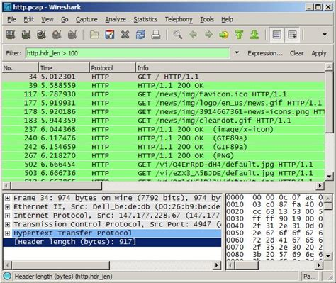 wireshark tutorial point wireshark how to find out the http header length of a