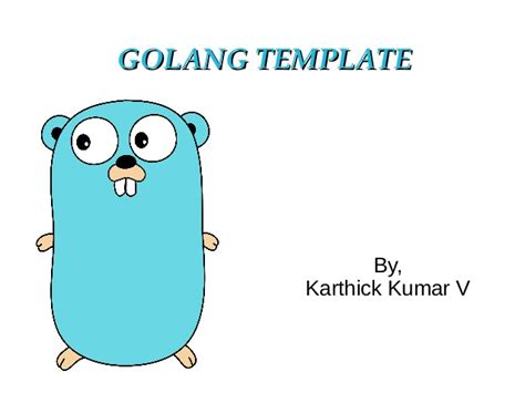golang template