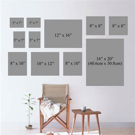 different picture frames gallery frame black wall collection various sizes by