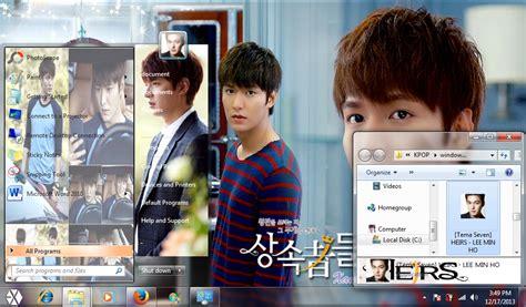kpop theme hunter my kpop fanatik lee min ho heirs drama version windows