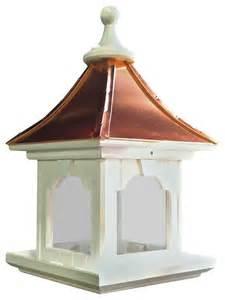 vinyl copper bird feeder large capacity hanging bright