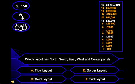 Csc 216 F09 Who Want To Be Millionaire Pg Wiki Who Wants To Be A Millionaire Layout