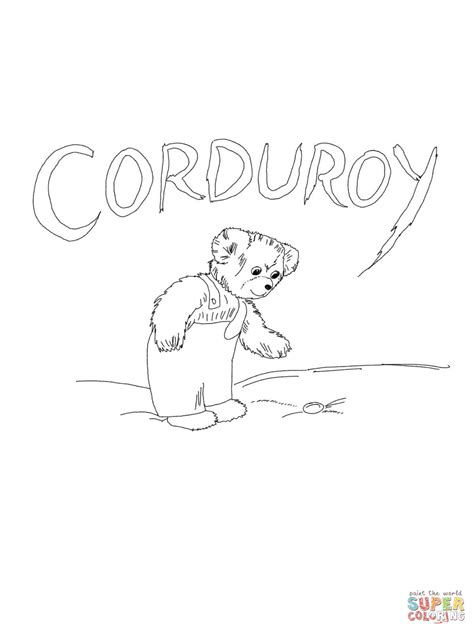 corduroy bear coloring pages coloring home