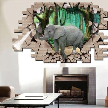 elephant living room decor 3d elephant forest living room bedroom animals floor home background wall decor creative