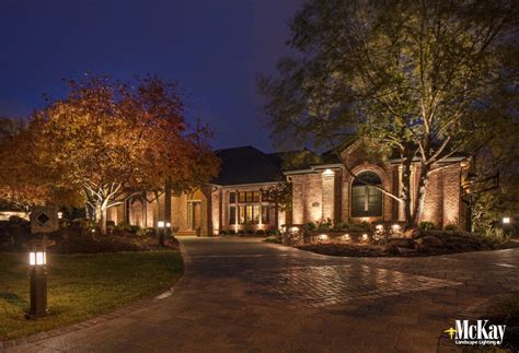 landscape lighting driveway driveway lighting ideas for safety and curb appeal
