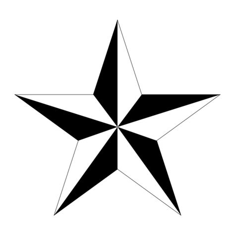 shaded star tattoo designs tattoos drawings clipart best