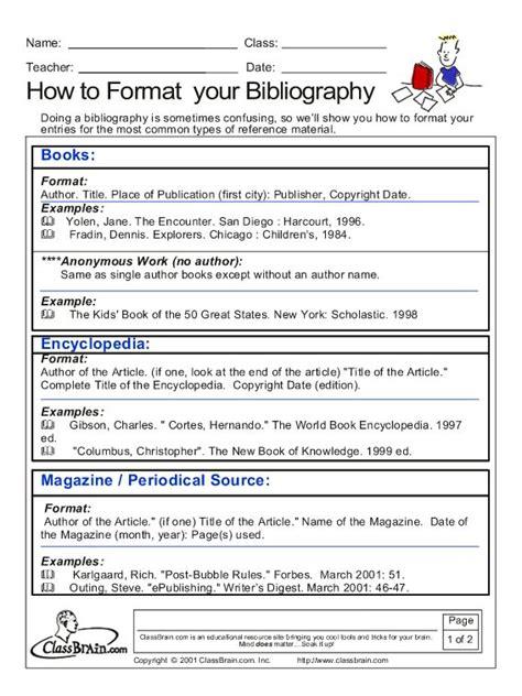 bibliography note card template bibliography education kid stuff