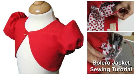 jacket pattern making youtube how to sew a bolero jacket for girls sewing tutorial